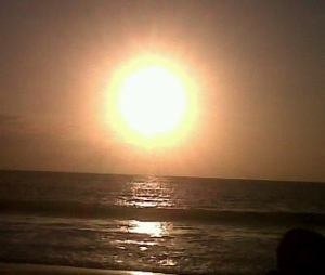 sunset jimbaran beach